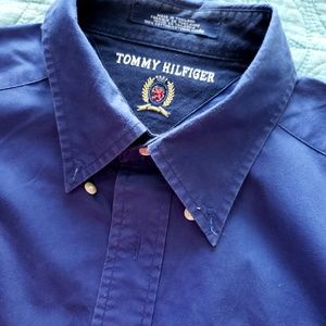 TOMMY HILFIGER Blue Men's Long Sleeve Shirt